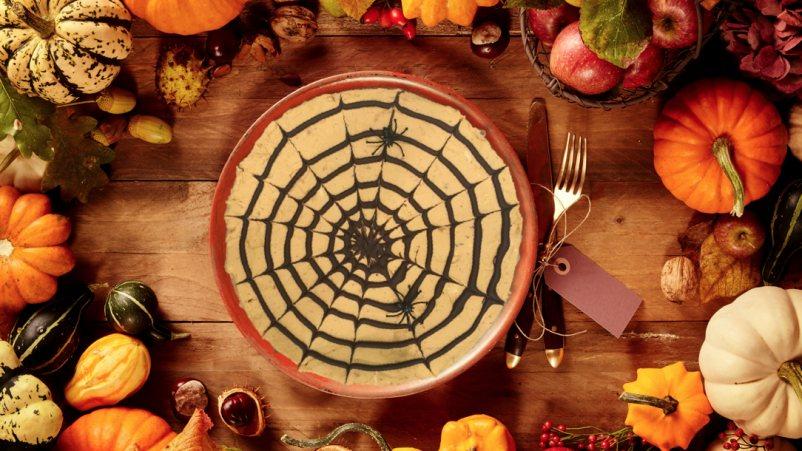 Cheesecake s bundevom za Noć vještica